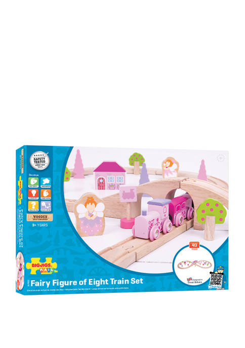 Bigjigs Rail Wooden Fairy Figure of Eight Train