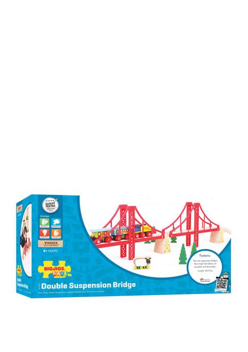 Bigjigs Rail Wooden Double Suspension Bridge