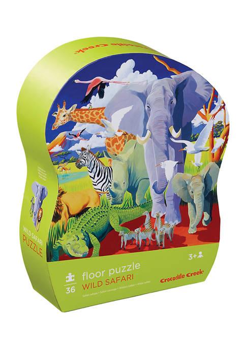 Wild Safari Floor Puzzle: 36 Pieces