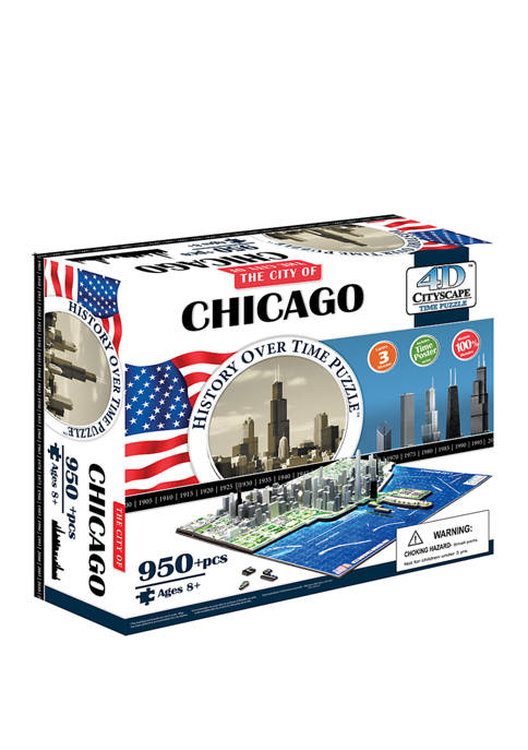 4D Cityscape Time Puzzle - Chicago, USA