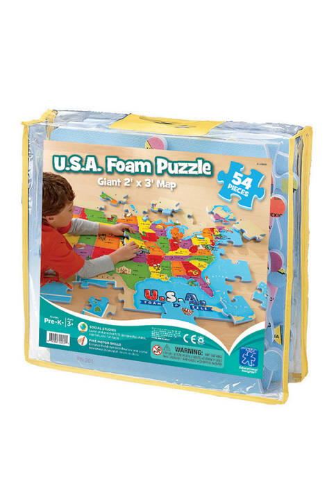 Educational Insights USA Foam Map Floor Puzzle: 54