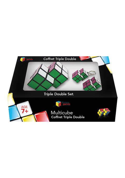 Multi Cube Brain Teaser Puzzle - Triple Double Set