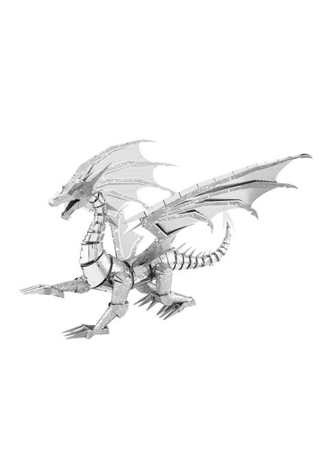ICONX 3D Metal Model Kit - Silver Dragon