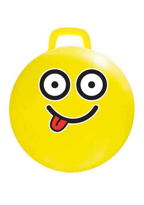 15-Inch Yellow Emoji Hop Hop Bouncer - #Silly