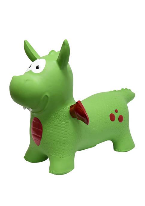 MegaFun USA JumPets Bouncer Dexter the Dragon Green