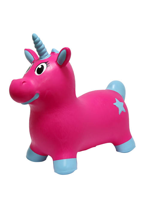 MegaFun USA JumPets Bouncer Luna the Unicorn Pink