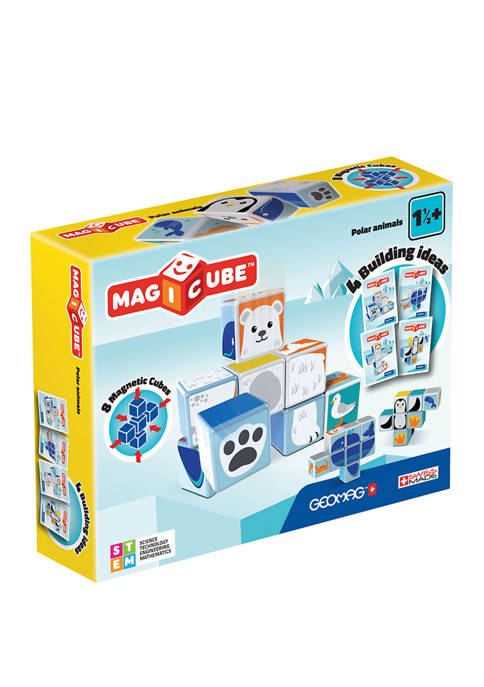 Geomag 8 Piece Magicube Polar Animals