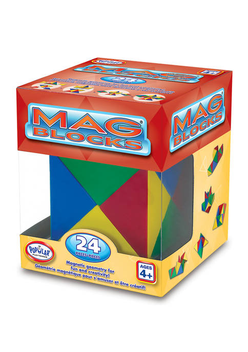 Mag Blocks 24 Piece Construction Set