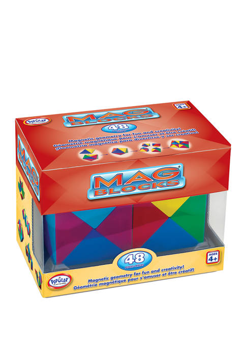 Popular Playthings 48 Piece Mag Blocks Set