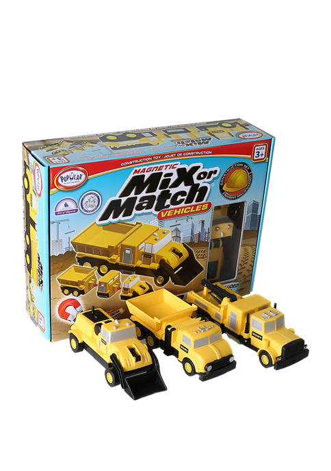 Popular Playthings Magnetic Mix or Match Vehicles: Construction
