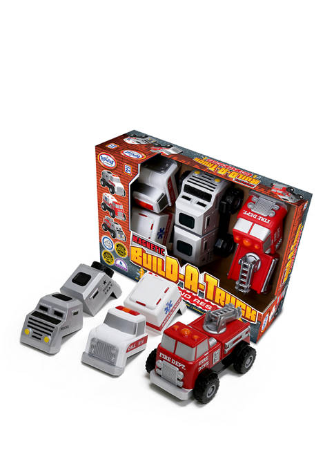 Popular Playthings Magnetic Build-A-Truck: Fire and Rescue