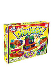 Popular Playthings 150 Piece Playstix Building and Construction Set