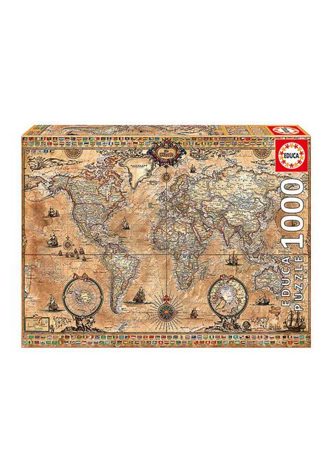 Educa Antique World Map: 1000 Piece Puzzle