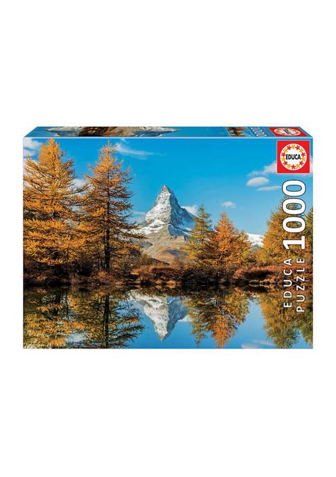 Educa Matterhorn Mountain in Autumn: 1000 Piece Puzzle