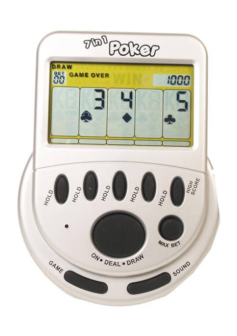 Classic Mega Screen 7 in 1 Poker Handheld Electronic Game