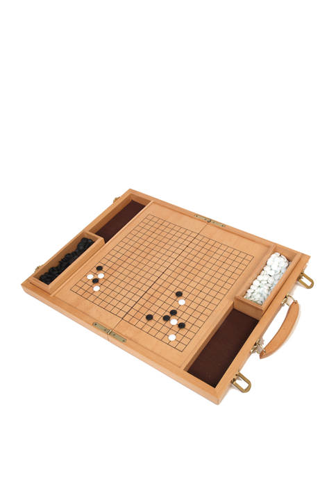 Deluxe 15-Inch Wood Go Game Set