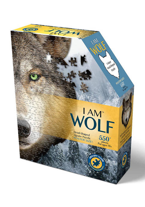 Briarpatch I Am Wolf Shaped Jigsaw Puzzle: 550