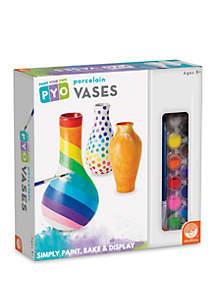 MindWare Paint Your Own Porcelain Vases Painting Kit
