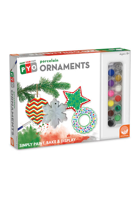 MindWare Paint Your Own Porcelain Ornaments Craft Kit