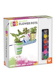 MindWare Paint Your Own Porcelain Flower Pots Painting Kit