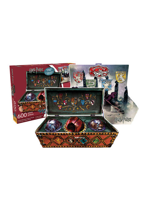 Harry Potter Quidditch Set Double Sided Shaped Jigsaw Puzzle: 600 Pieces