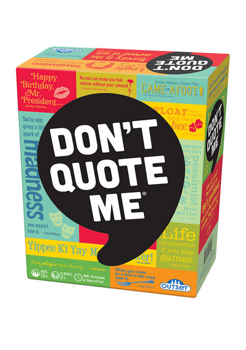 Outset Media Dont Quote Me Adult Party Game