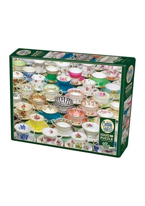 Cobble Hill Puzzle Company Teacups Puzzle: 1000 Pieces