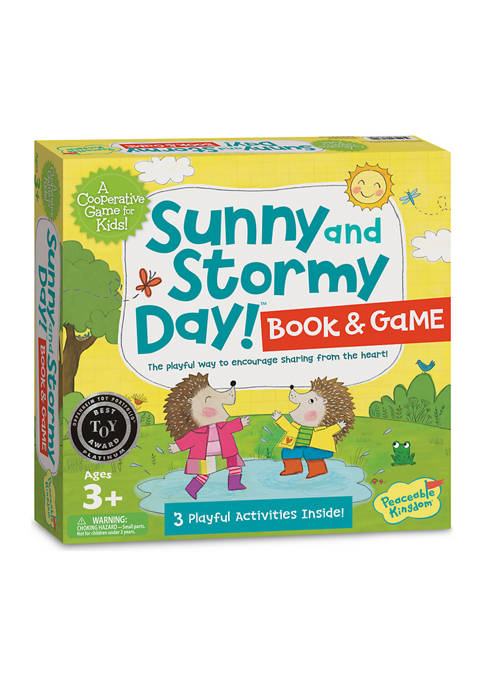 Peaceable Kingdom Sunny and Stormy Day! Book &