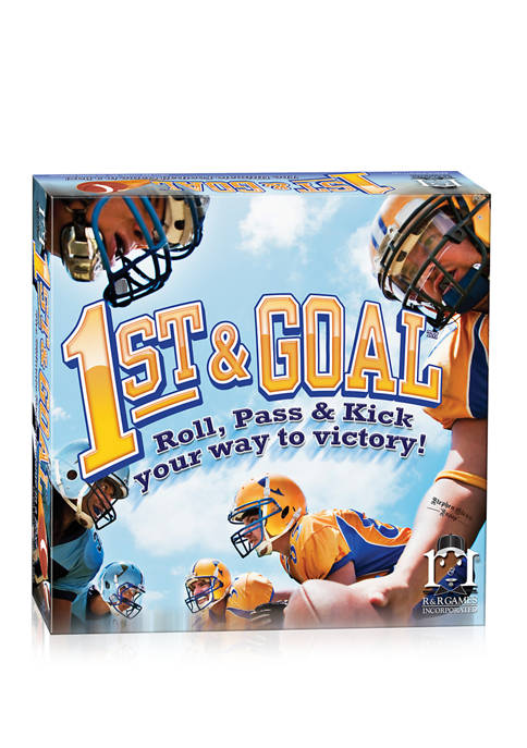 1st and Goal Football Board Game: Roll, Pass and Kick Your Way to Victory!
