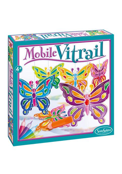 Mobile Vitrail Craft Kit- Crystal Butterflies