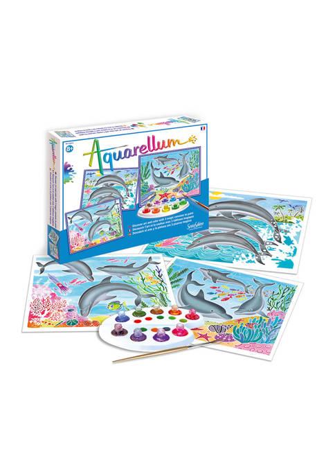 Aquarellum Large Craft Kit - Dolphins