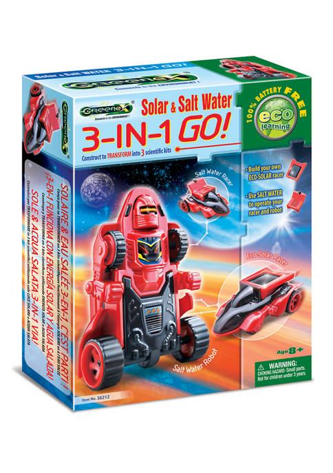 Greenex Solar & Salt Water 3-in-1 GO! Science Kit