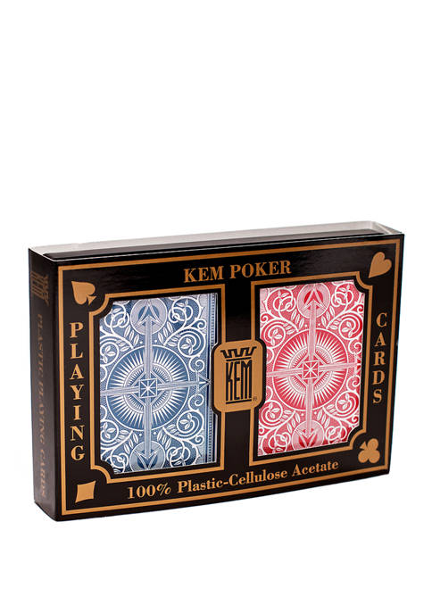 KEM Playing Cards - Arrow Red and Blue: Wide