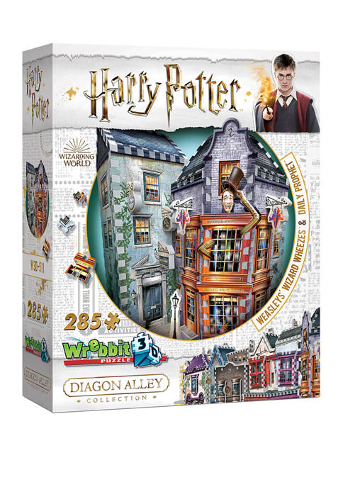 285 Piece Harry Potter Daigon Alley Collection Weasleys Wizard Wheezes and Daily Prophet 3D Puzzle
