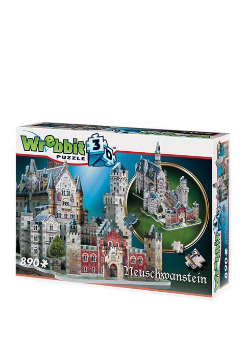 Neuschwanstein Castle 3D Puzzle: 890 Pieces