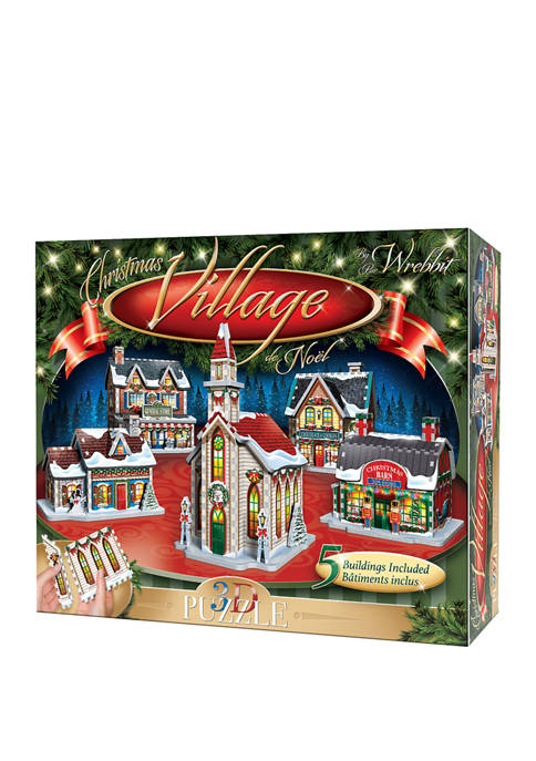 116 Piece Christmas Village 3D Puzzle