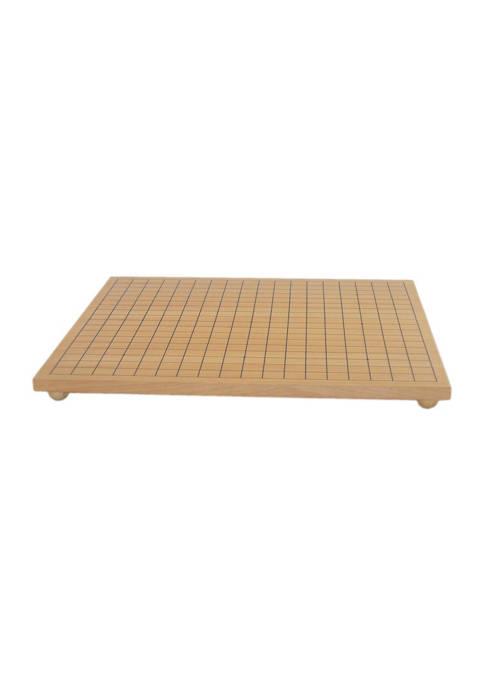 Maple Wood Veneer Go Board with Wooden Ball Feet - 19 in x 17.5 in