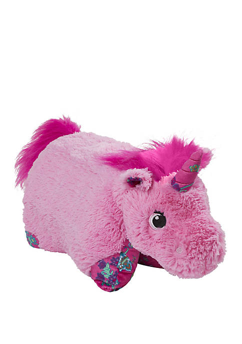 Pillow Pets Colorful Pink Unicorn Stuffed Animal Plush