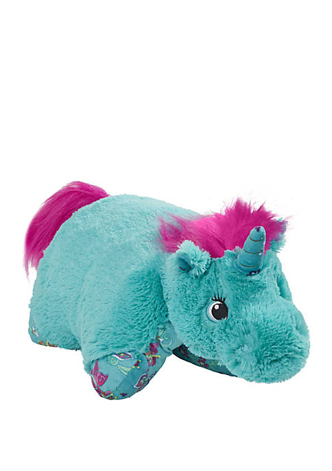 Pillow Pets Colorful Teal Unicorn Stuffed Animal Plush