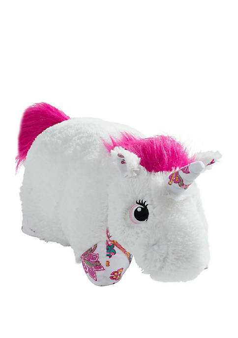Pillow Pets Colorful White Unicorn Stuffed Animal Plush