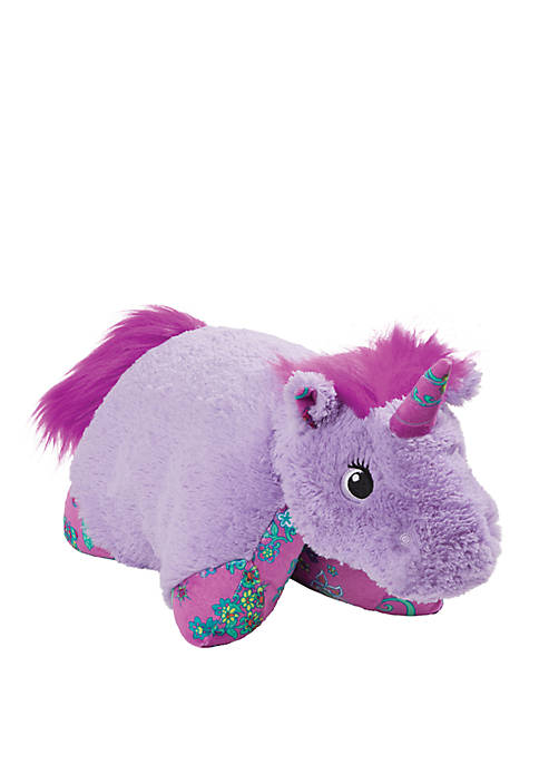 Pillow Pets Colorful Lavender Unicorn Stuffed Animal Plush
