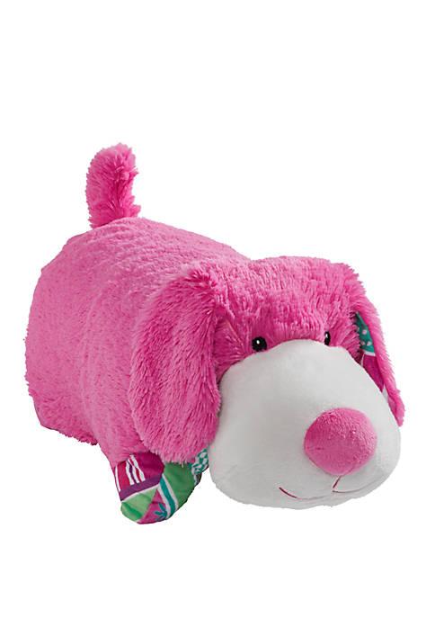 Pillow Pets Colorful Pink Puppy Stuffed Animal Plush