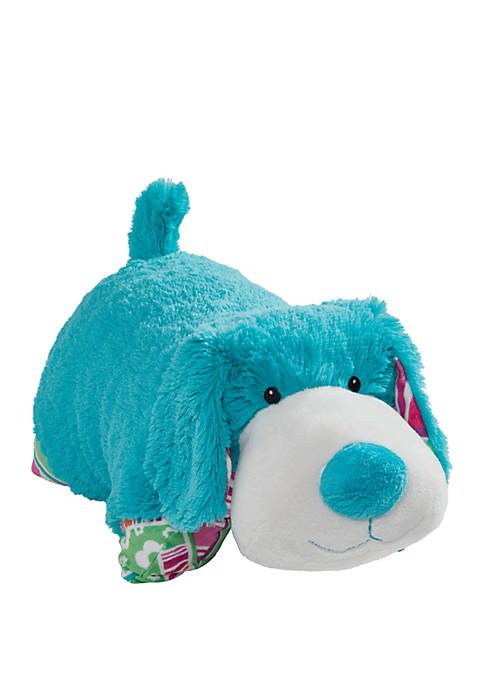 Pillow Pets Colorful Teal Puppy Stuffed Animal Plush
