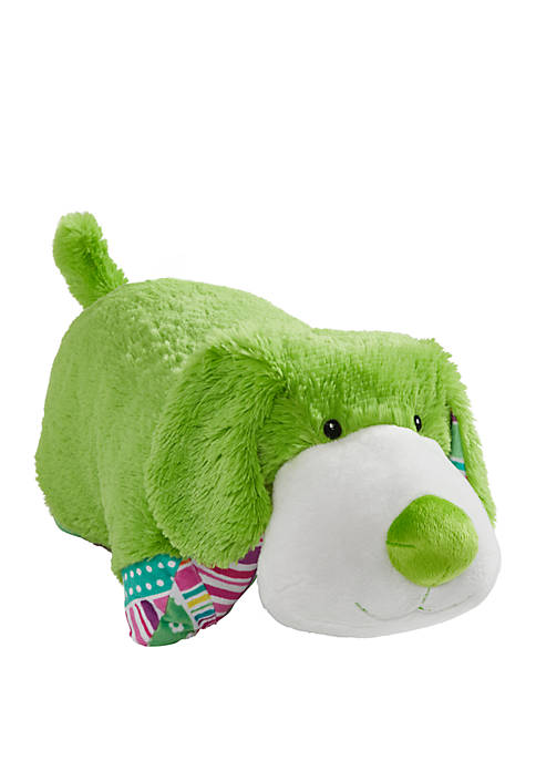 Pillow Pets Colorful Lime Green Puppy Stuffed Animal