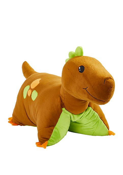 Pillow Pets Brown Dinosaur Stuffed Animal Plush Toy