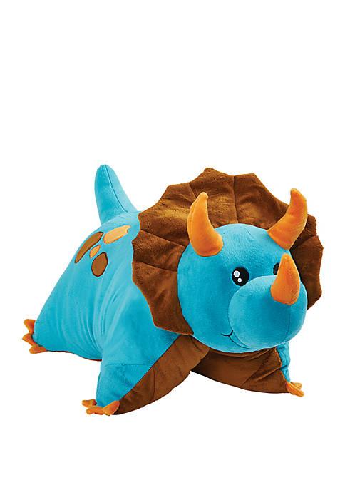 Pillow Pets Blue Dinosaur Stuffed Animal Plush Toyt