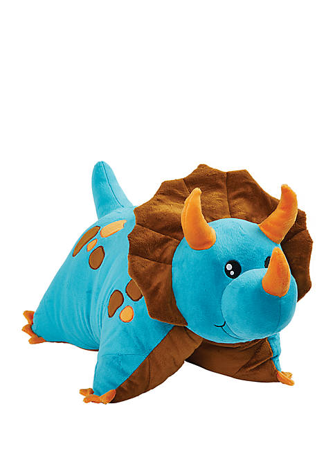 Pillow Pets Signature Jumboz Blue Dinosaur Oversized Stuffed