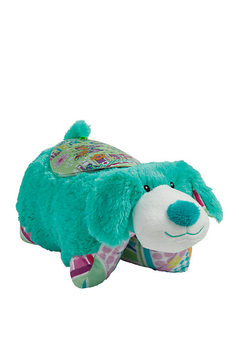 Pillow Pets Colorful Teal Puppy Sleeptime Lite