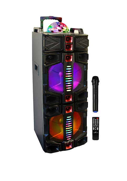 Befree Sound Dual 12 Inch Subwoofer Bluetooth Portable