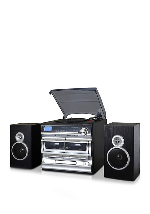 Trexonic 3 Speed Turntable, CD Player, Double Cassette